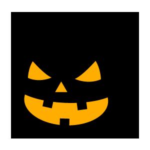 ハロウィンの無料かぼちゃのフリーシルエットイラスト画像24点