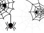 ハロウィンイラストクモの巣