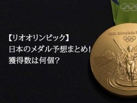 リオオリンピック日本のメダル獲得数予想