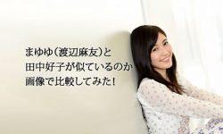 まゆゆ(渡辺麻友)と田中好子が似ているのか画像で比較してみた!