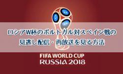 ロシアW杯のポルトガル対スペイン戦の見逃し配信・再放送を見る方法