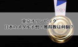 東京オリンピック日本のメダル予想!獲得数は何個?